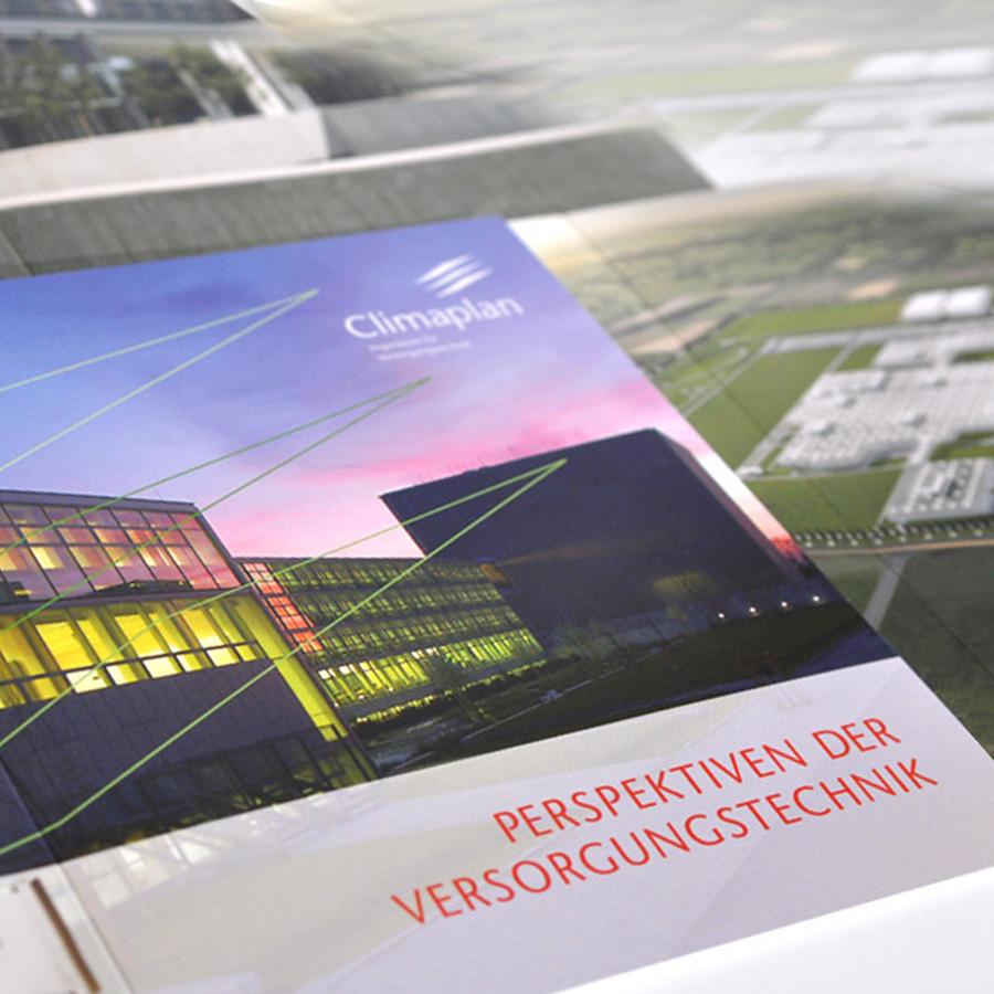 Referenzbroschüre für die Climaplan GmbH, Ingenieure für Versorgungstechnik