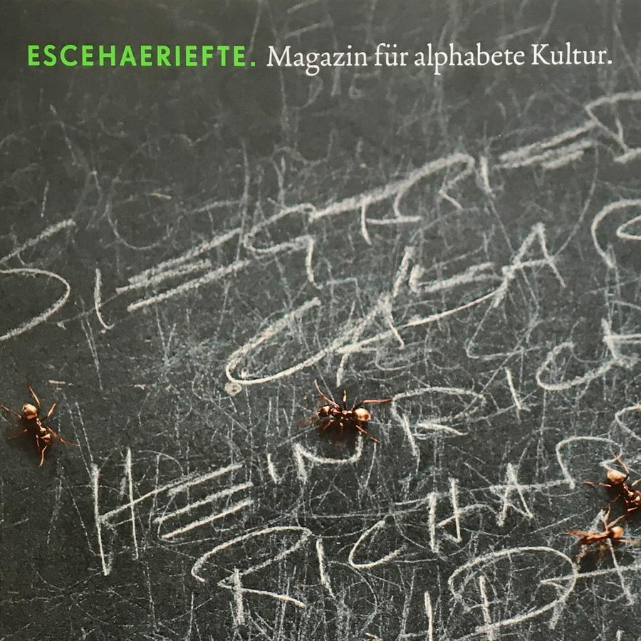 ESCEHAERIEFTE, Magazin für alphabete Kultur. Auszeichnung mit einem Diplom für Typografie und Design bei der Berliner Type