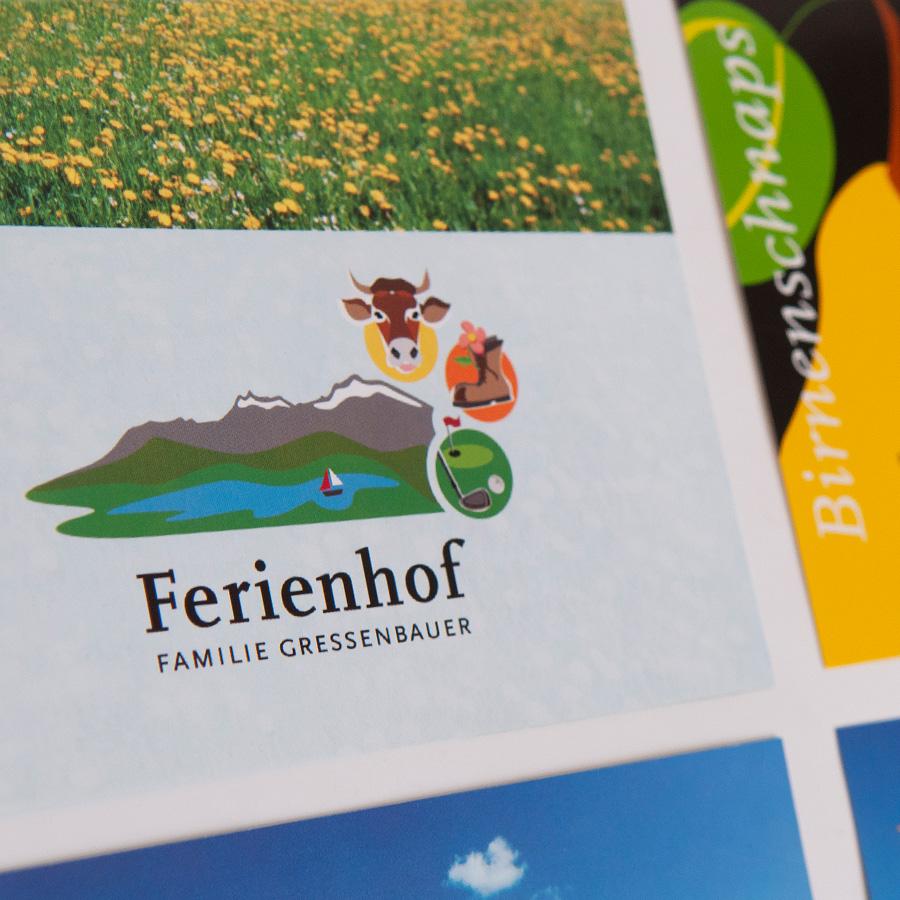 Corporate Design und Website für den Ferienhof Gressenbauer, Österreich: gressenbauer.net