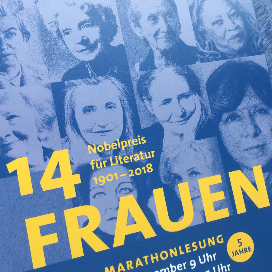"""Design für die """"Marathonlesung"""" der Wiener Volkshochschulen"""