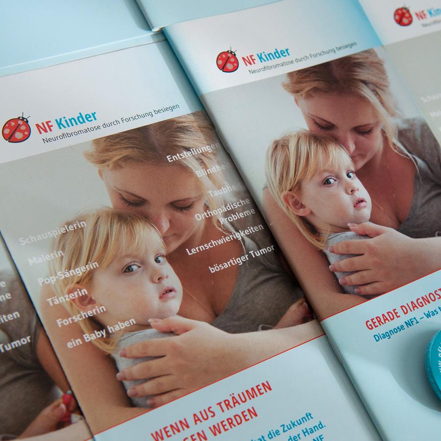 Corporate Design, Broschüren und Website für den Verein nfkinder.at