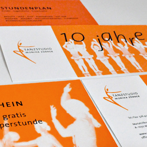 Corporate Design für das Tanzstudio Monika Zörrer, Wien