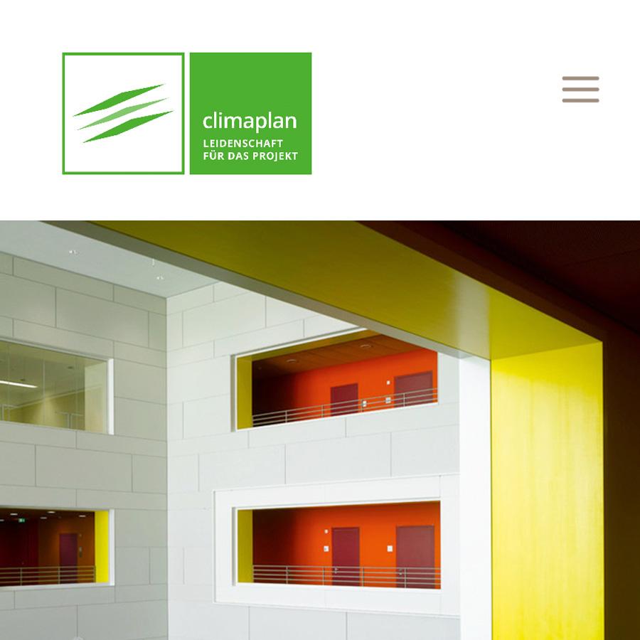 Climaplan Website Konzept, Design & Umsetzung Tastwest
